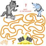Grappig labyrint Royalty-vrije Stock Afbeelding