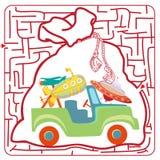 Grappig labyrint Illustratie van Onderwijslabyrint Stock Afbeeldingen