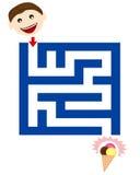 Grappig labyrint voor kinderen Royalty-vrije Stock Foto's