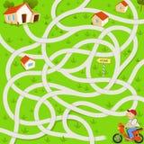 Grappig labyrintspel vector illustratie