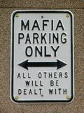 Grappig maffiawaarschuwingssein Royalty-vrije Stock Afbeeldingen