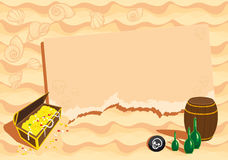Grappig malplaatje op piraatthema. Stock Foto