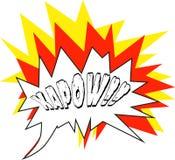 Grappig met schrijf Kapow!! - Vector Stock Afbeelding