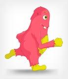 Grappig Monster. Het lopen. Royalty-vrije Stock Fotografie