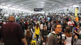 Grappig NY bedriegt in Jacob K Javits Convention Center stock videobeelden