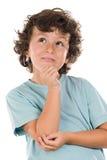 Grappig portret van een knappe jongen stock foto's