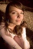 Grappig portret van een meisje stock afbeeldingen