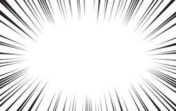 Grappig radiaal van snelheidslijnen vectorbehang als achtergrond vector illustratie