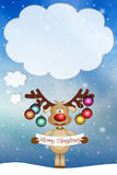 Grappig rendier voor Kerstmis Royalty-vrije Stock Foto's