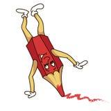 Grappig rood potlood Stock Foto's