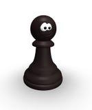 Grappig schaakpand stock illustratie