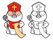Grappig Sinterklaas royalty-vrije illustratie
