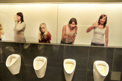 Grappig Toilet Stock Foto's