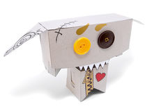 Grappig toothy stuk speelgoed stock afbeeldingen