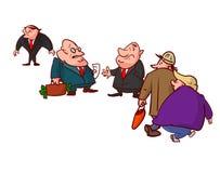 Grappig van corrupte politici, het liggen royalty-vrije illustratie