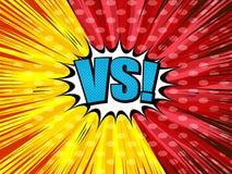 Grappig versus licht malplaatje stock illustratie