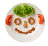 Grappig voedsel Stock Afbeelding