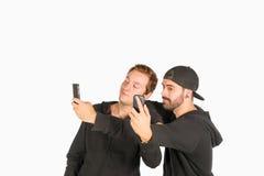 Grappig vriendenportret Stock Afbeeldingen