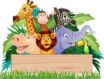 Grappig wild dier Stock Afbeeldingen