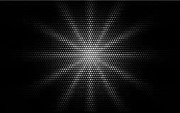 Grappig wit gestippeld retro de stijlontwerp van het gradiënt halftone pop-art op zwarte achtergrond Zwart-wit glans ster of zon stock illustratie