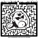 Grappig zwart-wit labyrint Royalty-vrije Stock Fotografie