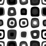 Grappig zwart-wit naadloos patroon royalty-vrije illustratie