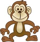 Grappige aap - vectorillustratie Stock Foto