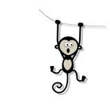 Grappige aap voor uw ontwerp Royalty-vrije Stock Foto's