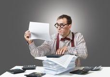 Grappige accountant stock foto's