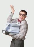 Grappige accountant stock afbeeldingen