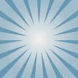 Grappige achtergrond Blauw Zonnestraalpatroon Stralen die binnen de flits worden geleid Vector royalty-vrije illustratie