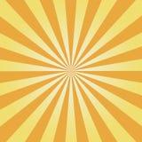 Grappige achtergrond Geel Zonnestraalpatroon De abstracte achtergrond van zonstralen Vector stock illustratie