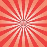 Grappige achtergrond Rood Zonnestraalpatroon De abstracte achtergrond van zonstralen Vector vector illustratie