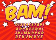 Grappige alfabetreeks Letters, getallen en cijfers Stock Fotografie