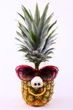 Grappige Ananas met Zonnebril Royalty-vrije Stock Afbeeldingen