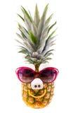Grappige Ananas met Zonnebril Royalty-vrije Stock Foto