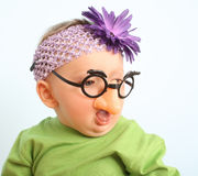 Grappige baby Stock Foto's