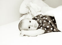 Grappige baby stock afbeelding