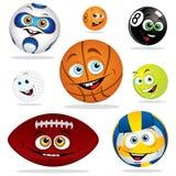 Grappige ballen stock illustratie