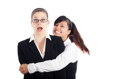 Grappige bedrijfsvrouwen Royalty-vrije Stock Afbeeldingen