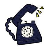 grappige beeldverhaal bellende telefoon Stock Foto