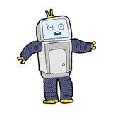 grappige beeldverhaal grappige robot Royalty-vrije Stock Foto