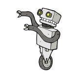 grappige beeldverhaal grappige robot Stock Afbeelding