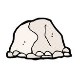 grappige beeldverhaal grote rots Stock Foto's