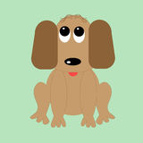 Grappige beeldverhaalhond Stock Afbeelding