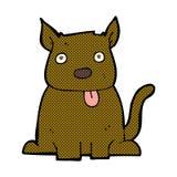 grappige beeldverhaalhond die uit tong plakken Stock Foto
