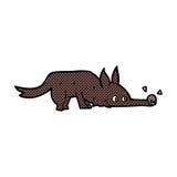 grappige beeldverhaalhond het snuiven vloer Royalty-vrije Stock Foto