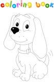 Grappige beeldverhaalhond Kleurend boek voor jonge geitjes Royalty-vrije Stock Afbeelding