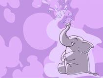 Grappige beeldverhaalolifant Stock Foto