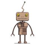 Grappige beeldverhaalrobot. Vectorillustratie Royalty-vrije Stock Foto's